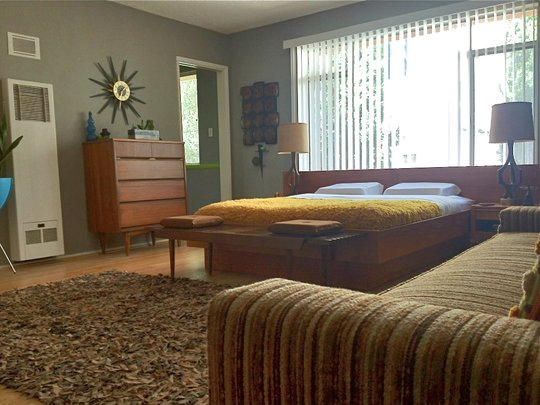 Super small danish modern in weho soulful abode for 70s bedroom ideas