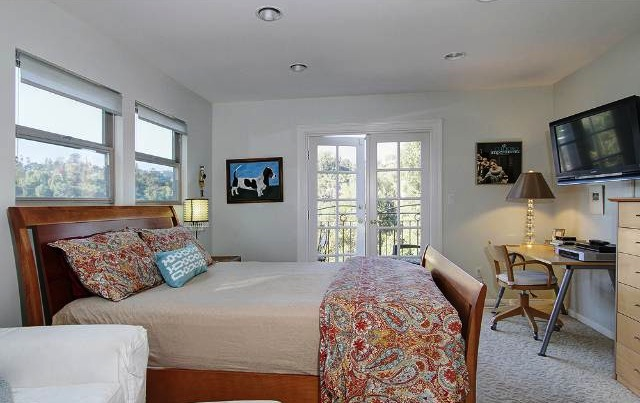 Master bedroom with walk-in closets