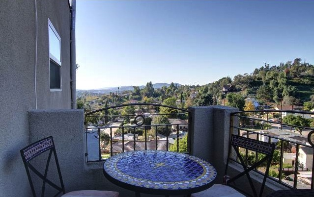 Balcony with panoramic views. Courtesy of Tracy King -- Teles Properties