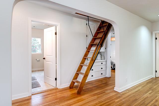 Ladder to massive attic