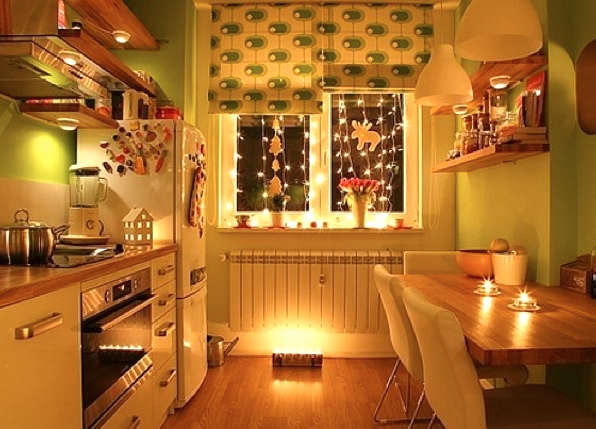 The Inviting Kitchen at night