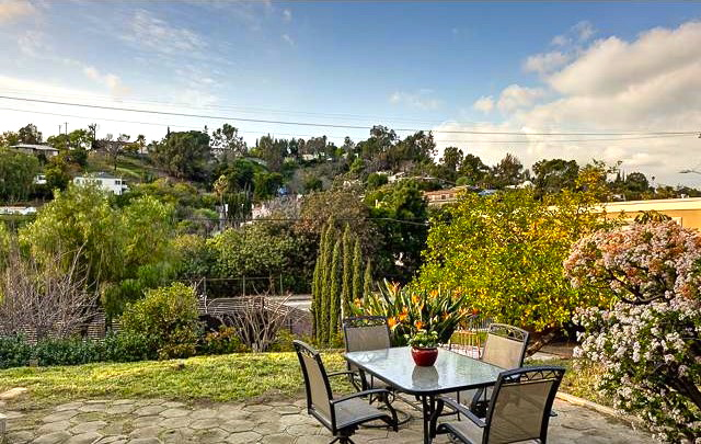 Patio with sweeping hillside views. Courtesy of Matty Hurtado – Coldwell Banker