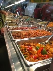 Delectable hot food station at Arko Foods