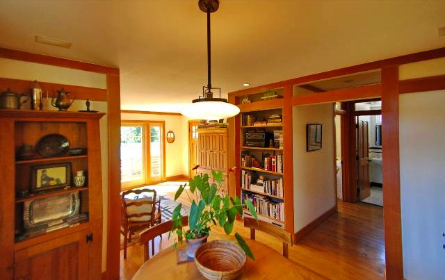 Dining room and built-ins