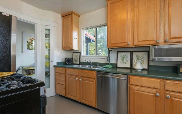 Updated kitchen with original built-ins