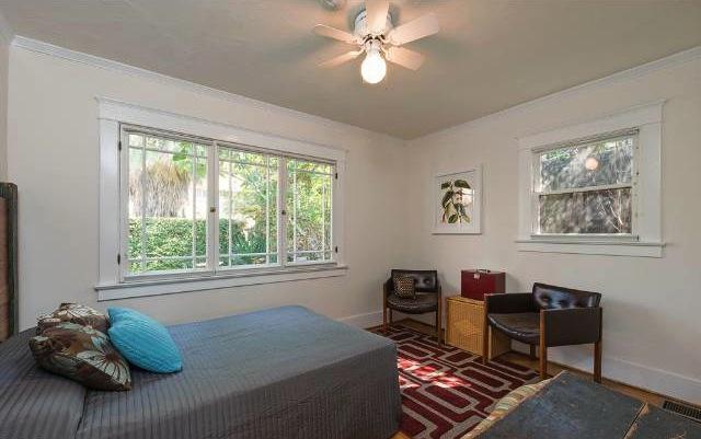 Bedroom with casement windows
