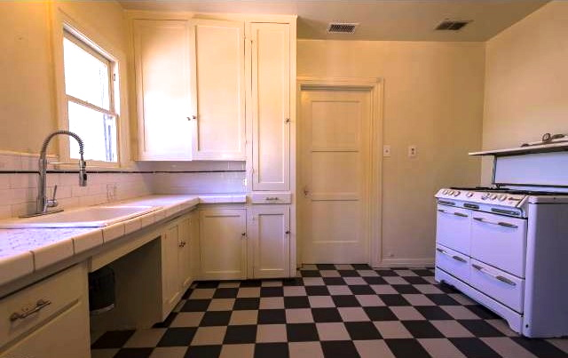 Built-in kitchen with gorgeous vintage stove