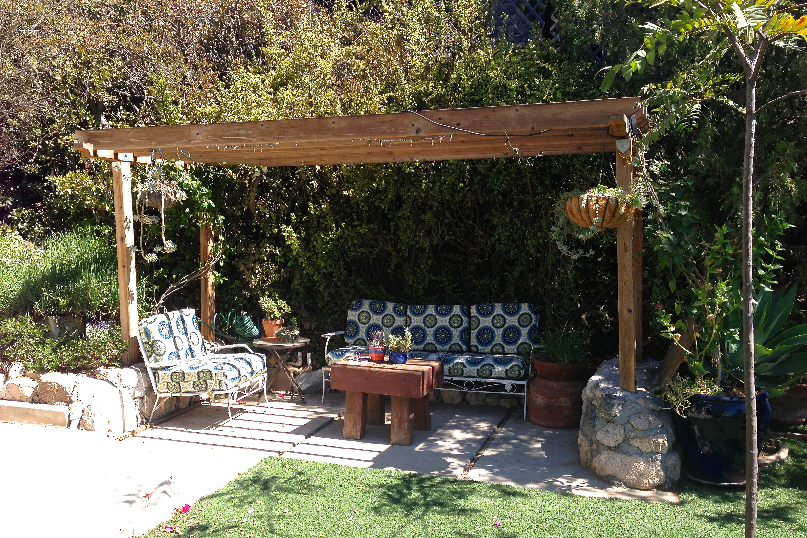 Patio with pergola with views
