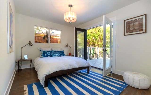 Bedroom with deck