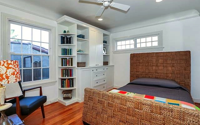 Bedroom with built-ins