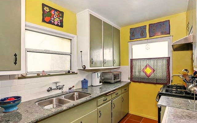 Kitchen in rear house