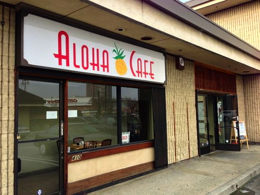 Aloha's unassuming strip mall storefront