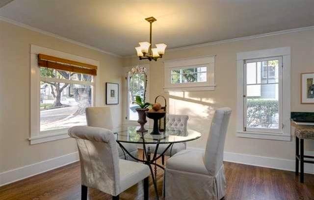 Dining room with original windows