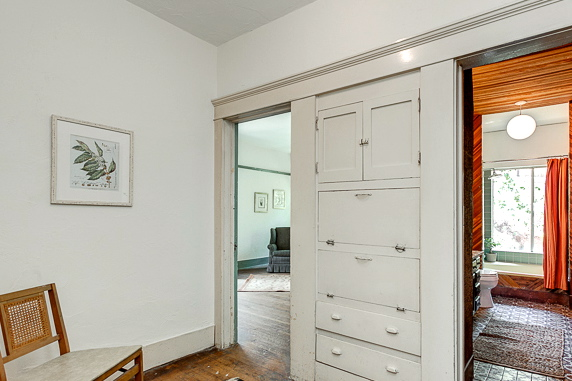 Hallway with built-in storage