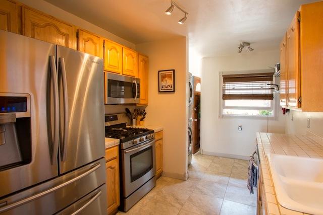 Updated galley kitchen