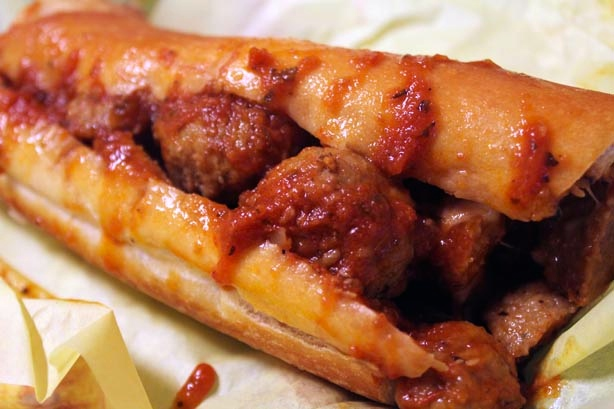 Mouth-watering meatball sub