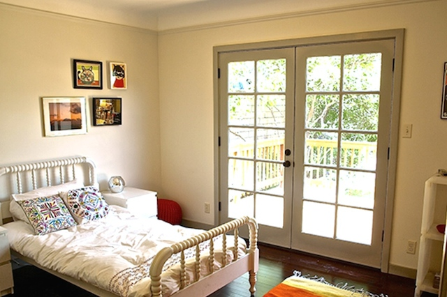 Bedroom with deck access