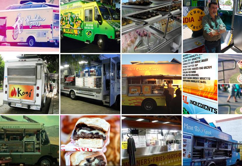 An array of food trucks...