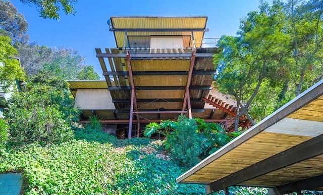 A stilt home designed by Architect Raul F. Garduno