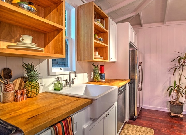 Kitchen with a farmhouse sink
