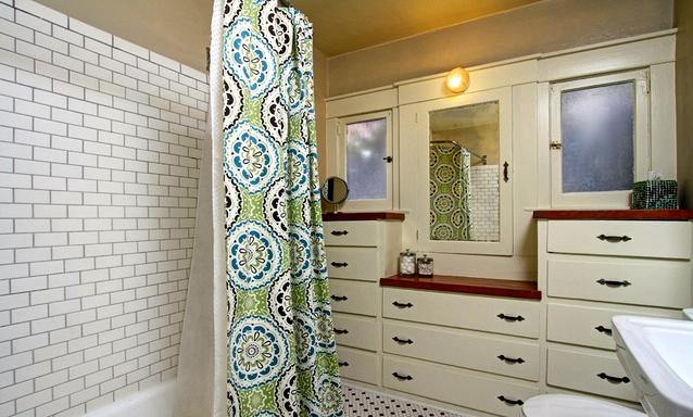 Bath with built-in vanity