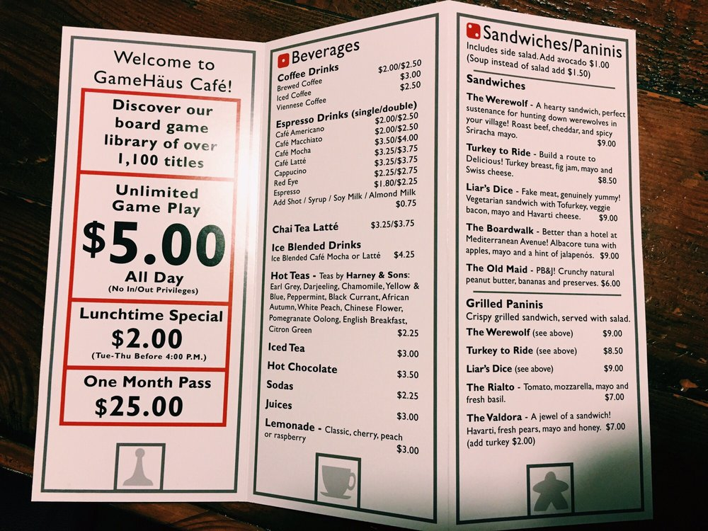 The full menu